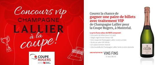 Concours VIP Champagne Lallier à la Coupe par Vins Fins